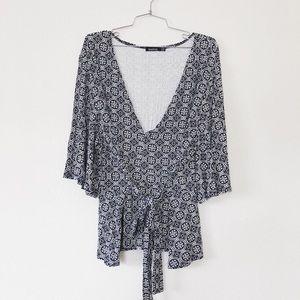Deep V Kimono Top